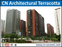 100% green clay building material of terracotta curtain wall panels for construction