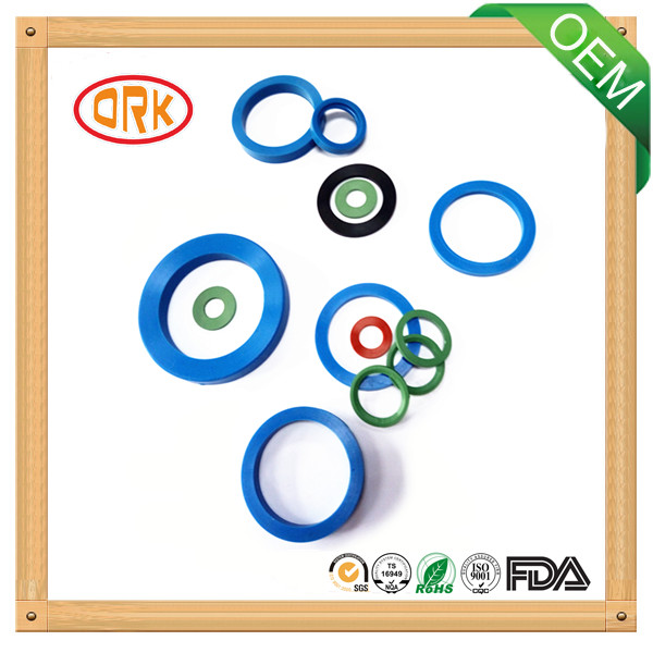 Colored Oil Resistance Viton flat rubber gasket