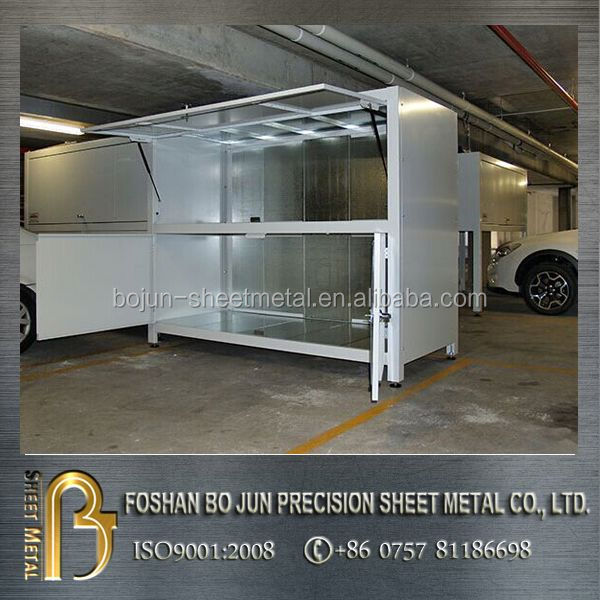 Custom over car bonnet car parking storage garage box for Over car garage storage