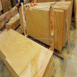 Good quality with cheap price per square meter teakwood yellow sandstone