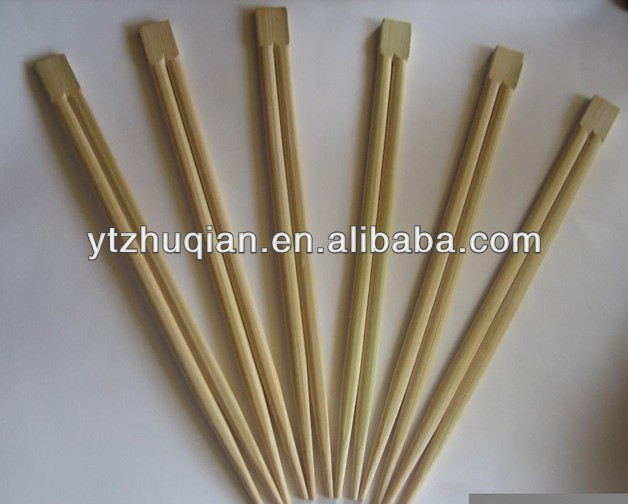 Cheap price 4.8-5.0mm thickness disposable natural twins bamboo chopsticks