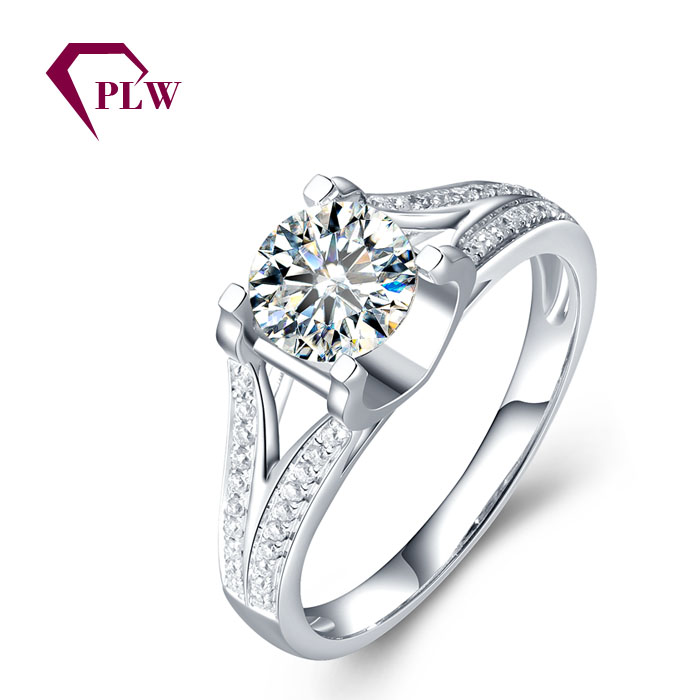 Wholesale price 14K gold 1ct moissanite ring