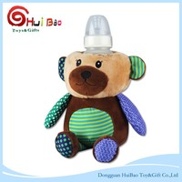 Hot selling plush promotion bear toy Christmas bear for Feeding Bottle Plush Pouch Cover