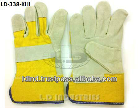 Split Fitter Gloves Yellow Khaadi