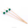 colorful bead bamboo customized decorative cocktail picks