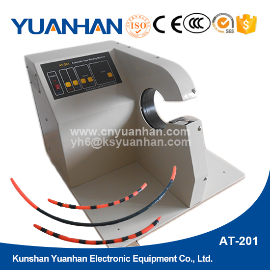 Labor saving semi auto plastic adhesive tape winding machine