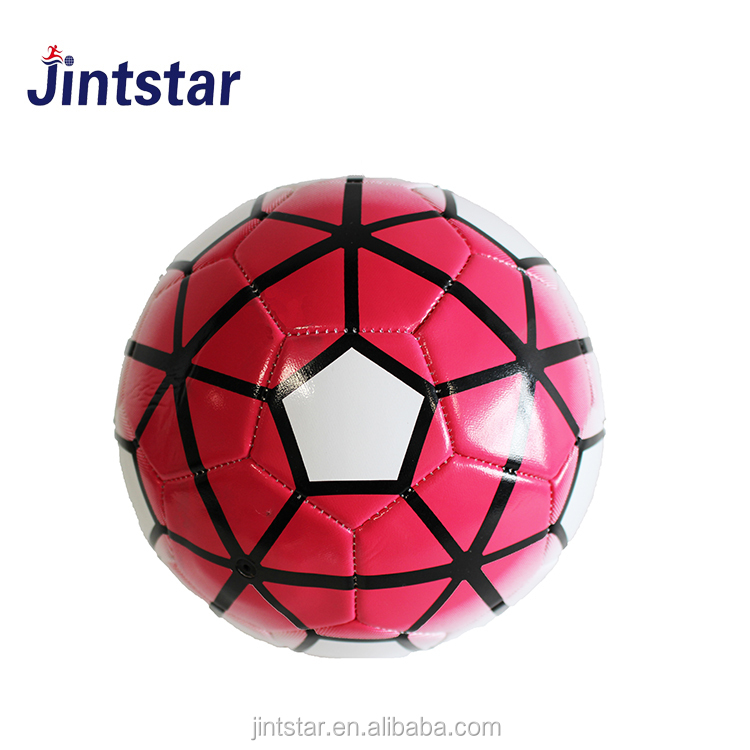 Jintstar custom print cheap Machine sewn stiched PVC Soccer balls/football with new design
