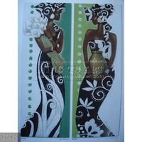 100% Handmade group abstract African woman canvas painting for wall decoration #57958