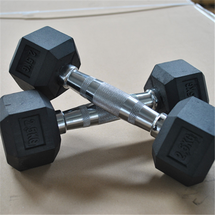 Super MND Gym Equipment Sports Equipment Spare and Accessory Parts 100413 Hex Rubber Incased Dumbbell
