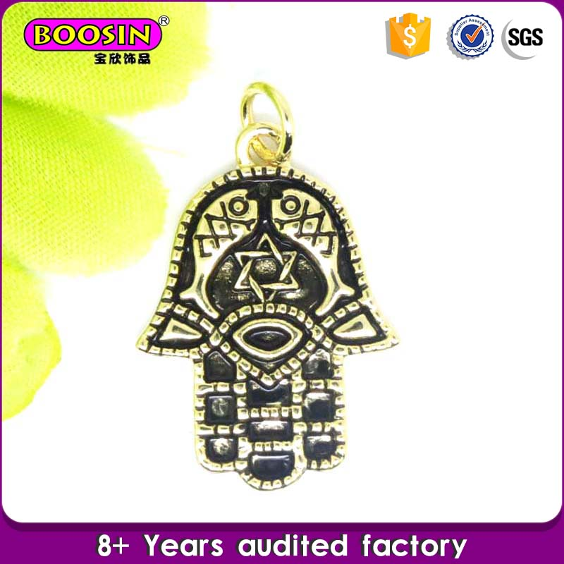 Guangdong supplier Jewelry custom made charms wholesale hamsa enamel pendants and charms