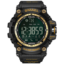 SMAEL 1617B vibrating pedometer men digital <strong>smart</strong> bluetooth <strong>watch</strong>