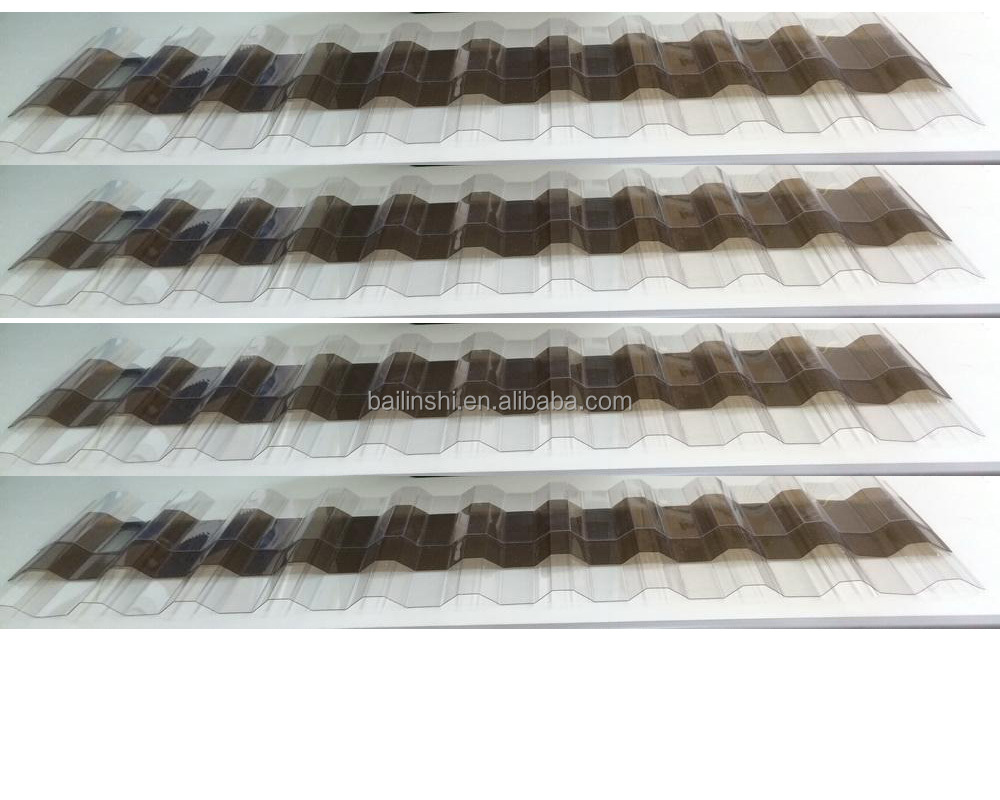 polycarbonate corrugated roofing sheet Greca profile
