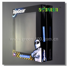 popular clear cardboard box with paper gift box clear pvc window