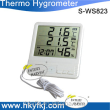 Digital Indoor Outdoor Thermometer Hygrometer /alarm clock household termohigrometro digital(S-WS823)