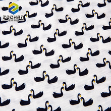 Modern design Korean style Black Duck Printing 100% cotton jersey fabric
