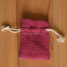 Small Drawstring Jute Pouch Bag/Jute Gunny Pouch/Jute Burlap Sack Pouch with Clear Front