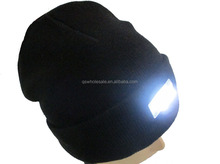 Hot selling LED lamp warm knitted hat beanie cap wholesale