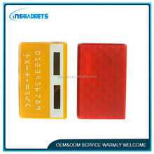 Mini slim card calculator ,T0c048 cheap plastic credit card sleeves calculator,scientific calculator for sale
