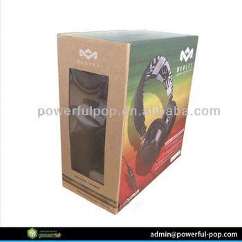 Supply headphone display box cardboard window box packaging