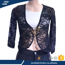 China Manufacture High Quality Black Lace Sexy Lady Custom T Shirts