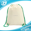 China Factory Supply Cheap Travel Pack Promotion Cotton Rope Blank Drawstring Bag