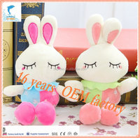 25cm -35cm cute eyelash rabbit bunny plush toys for wedding party