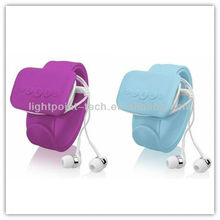 2013 sport mp3 music play funny flexible silicone wrist mp3 player back hand mp3 player