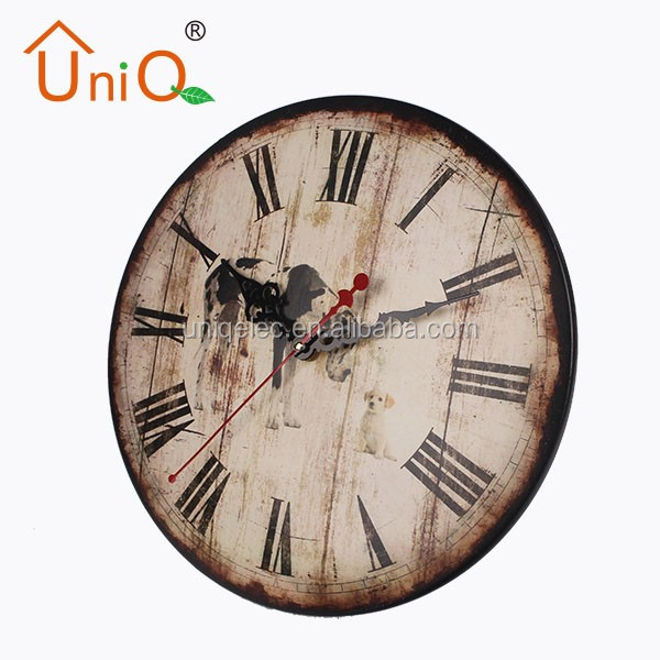 M1205 various kinds of antique made on metal wall clock