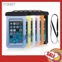 New arrival mobile phone 5.5 inches pvc waterproof bag for iphone 6 plus