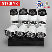 High speed motion outdoor plug and play 8 pieces bullet camera
