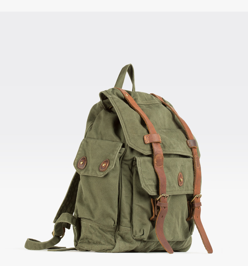 OEM factory Vintage casual unisex custom canvas backpack wholesale in Guangzhou