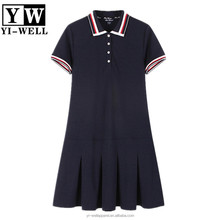 Guangzhou fashion pique TC sport tennis polo dress girls woman polo dress