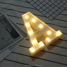 wedding souvenirs eye catching indoor warm marquee led letter lighting for party or home decor