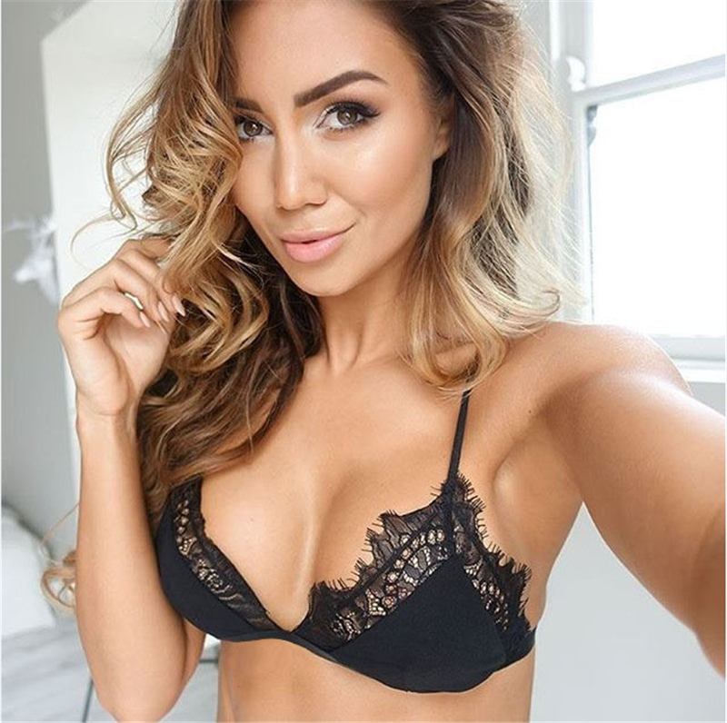 Women Hot Sexy Lace Micro Bralette Bra Adjusted Transparent Thin Lined Underwear Bras For Women