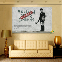 Wholesale New Design Canvas Painting Wall Art Painting On Canvas Banksy Art Man Painting For Living Room