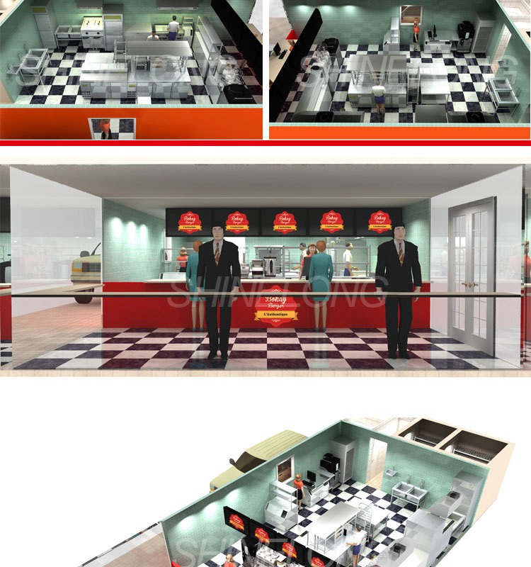Guadeloupe Fast Food Bkb Restaurant Kitchen Project By