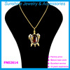 Sunshine gold chain rhinestone turtle pendant necklace jewelry accessories for women
