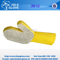 popular own patent household silver brush cloth scouring pad & sponge gloves designed for cleaning stainless steel