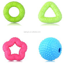 Hot sale factory price soft silicone sounding rubber star pet toys