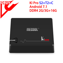 Satellite Receiver KI Pro Android Smart TV Box 2G+16G S2+T2+C DVB Tuner Android 7.1 TV Box KI Pro Amlogic S905D 4K DDR4 KODI New