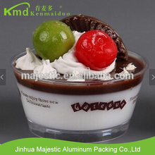 Disposable Round Transparent Hard Plastic Mousse Tiramisu Jelly Pudding Cup With Lid