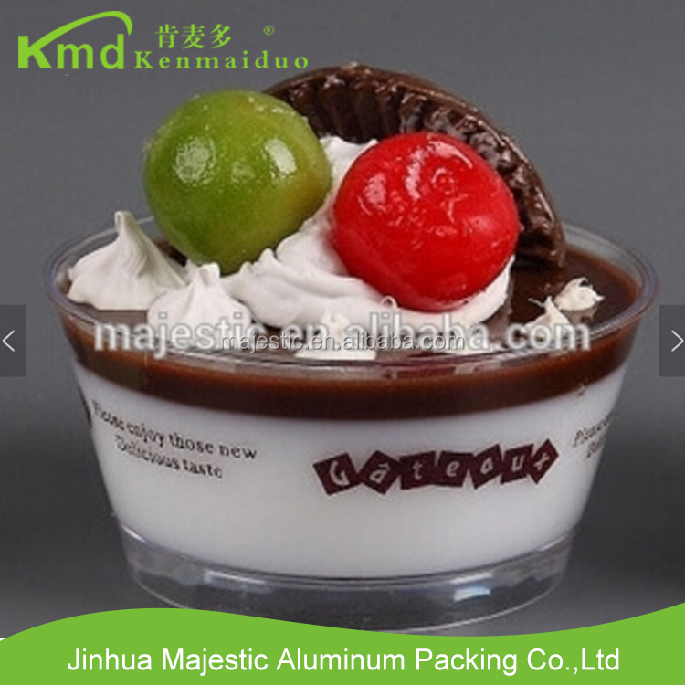 Transparent Hard Plastic Disposable Round Mousse Tiramisu Jelly Pudding Cup With Lid