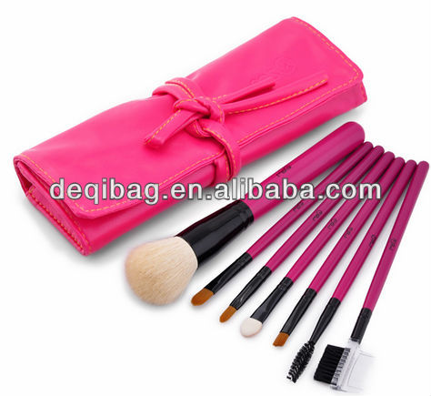 PU bright color cosmetic bag make up bags brush holder hot sale