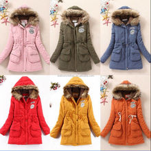 walson New Womens Thicken Fleece Warm Faux Fur Winter Coat Hooded Parka Overcoat Jacket
