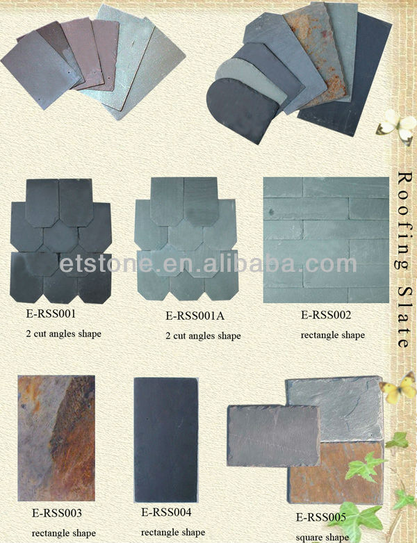China Natural Roofing Slate Stone , Slate Roof, natural slate roofing