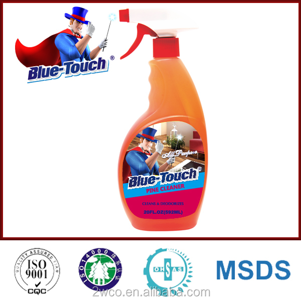 Blue-Touch multi-purpose floor cleaner liquid pine cleaner with trigger spray 592ml