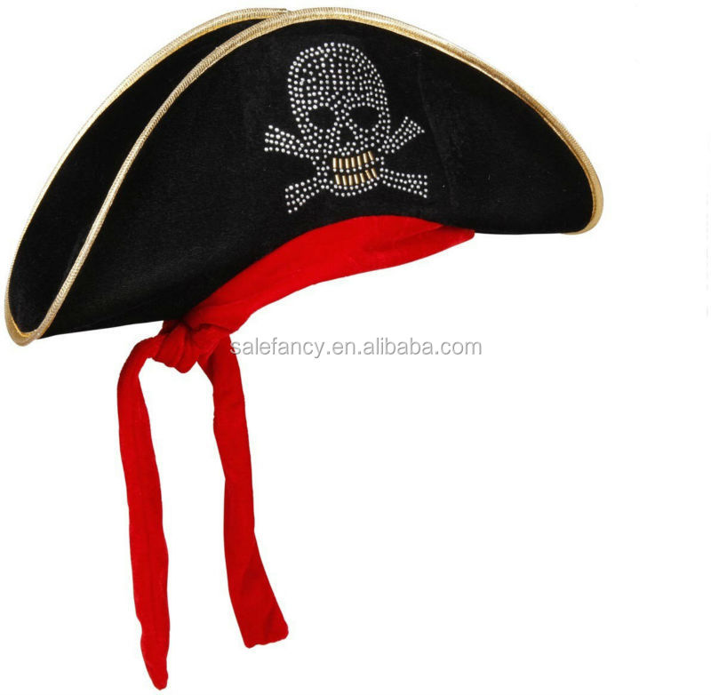 Wholesale Pirate Hat For Kids Mens Womens Girls Caribbean Hats Fancy Dress Party hat and cap QHAT-2075