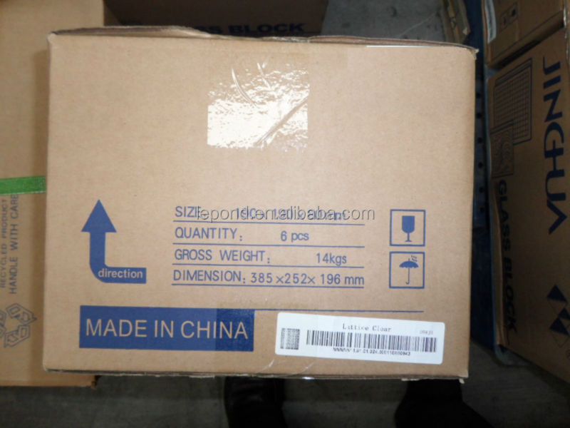 Vetro mattone pieno/Cina chiaro e colorato mattone di vetro ...