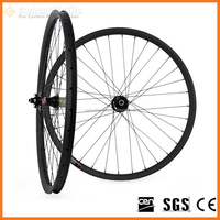 Factory Price CarbonBikeKits XCB29-40 mountain bike carbon wheel 30mm deep 40mm wide 29er wheels for fat bike frame