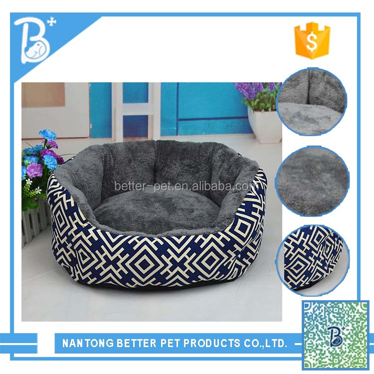 winter warm dog bed luxury small animal pet bed cheap fabric pet bed